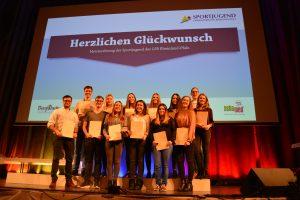 Das Jugendteam bei der Meisterehrung der Sportjugend in Mainz